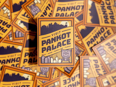 Indiana Jones and the Temple of Doom - Pankot Palace sticker label luggage vintage pankot temple of doom indiana jones