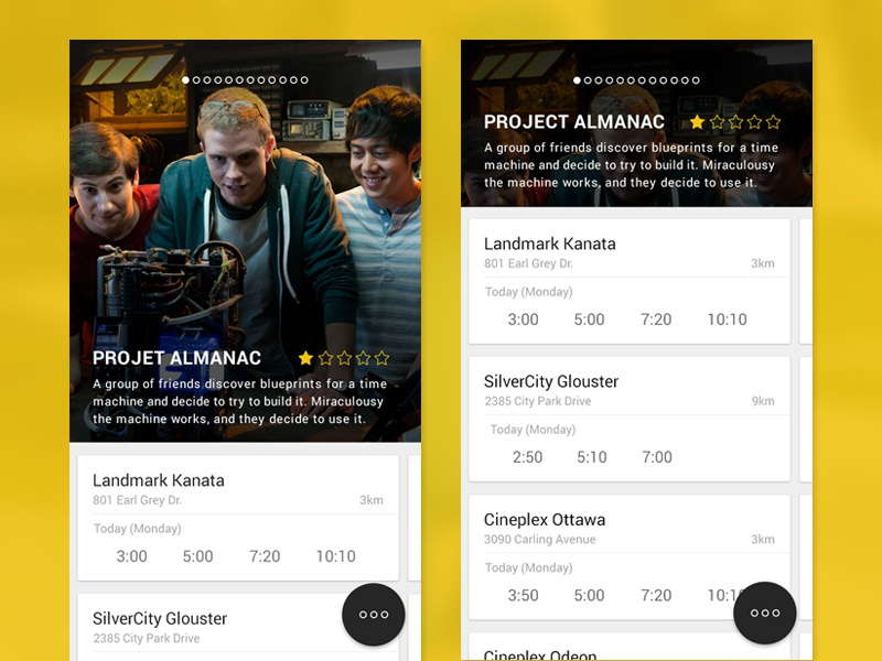 Dribbble movie app