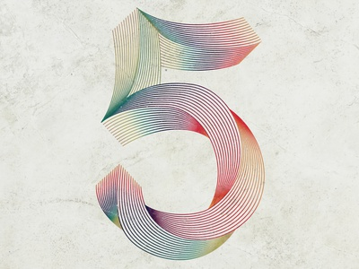 36 Days of Type 5 illustration handlettered 5 typography lettering design lettering artist handlettering alphabet 36daysoftype08 36daysoftype lettering