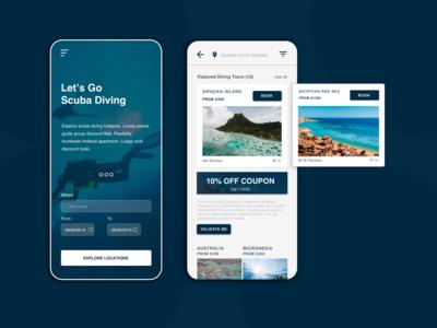 Travel App - Scuba Diving Locations