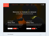 LiveComedy Landing Page