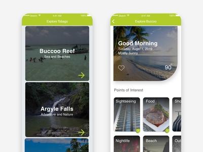 Explore Tobago App Concept