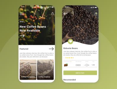 Coffee Bean Manufacture E-Commerce Concept