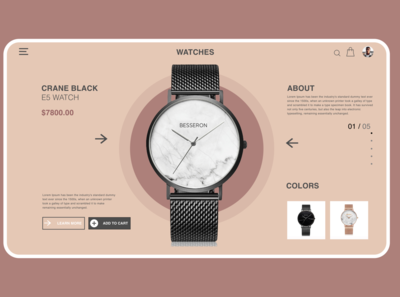 Watch Store Product Page Concept