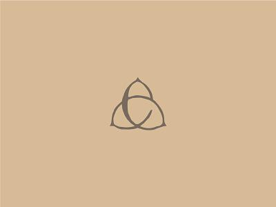 Pecans + e + Trinity Knot identity branding logo family trinity knot e pecans
