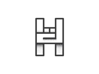Hard Rock logomark mark logo grain letter h music rock hard