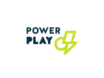 Building Blocks + Electricity playground branding logo electricity lightning bolt play power