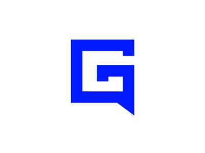 Gab g logo branding blue gab mark talk speech bubble