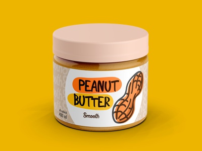 Peanut Butter Package art graphic design illustration illustrator branding icon logo minimal vector design