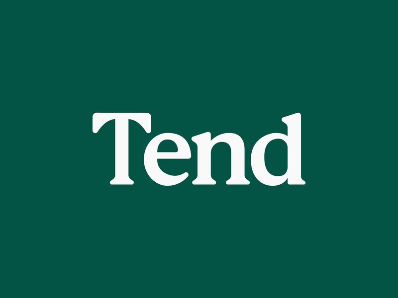 Tend Logo mark identity typography logotype logo design logo