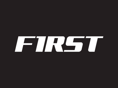 First logo branding mark typography logotype