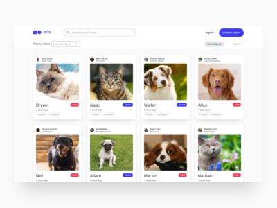 Pets concept UI