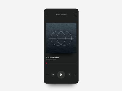 IxD Challenge — Day 9 ux minimalism music app design animation motion 21daysofixd ixd ui
