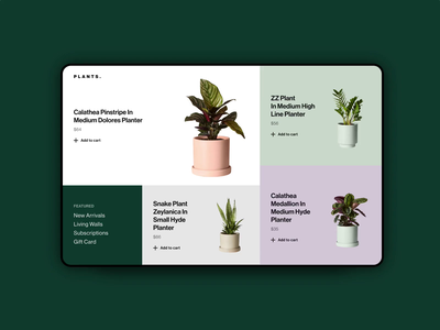 IxD Challenge — Day 15 interaction ux minimalism website plants invision studio animation ui 21daysofixd