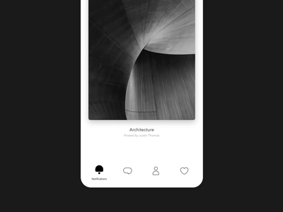 IxD Challenge — Day 16 minimalism black ui design invision studio motion animation 21daysofixd
