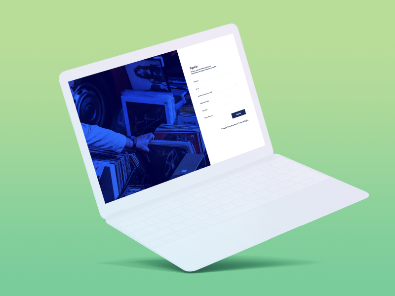 Music streaming Manager Signup mockup signup african africa web artist statistic ux ui manager streaming music