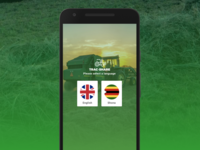 Tractor Service app. Language screen