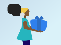 Black Woman with a present