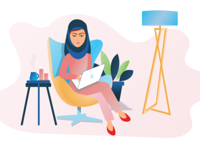 Work from Home Illustration remoteworking homeoffice working space