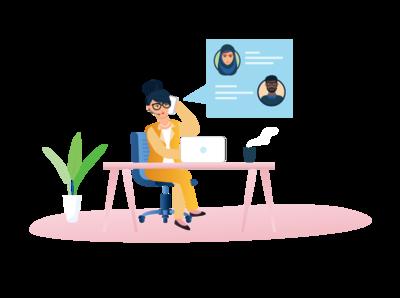 Business Woman Illustration workingwomen women working illustration business