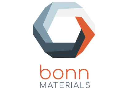 Bonn Materials Logo hitech hexagons illustrator logodesign