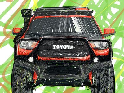 Toyota offroad Land Crusier artwork vehicle illustration
