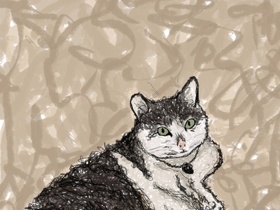 Paint me like one of your meow girls cats portrait artwork illustration