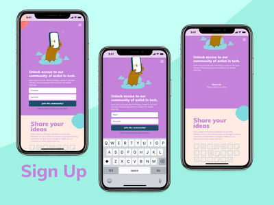 Sign up to newsletter ux productdesign dailyui design ui