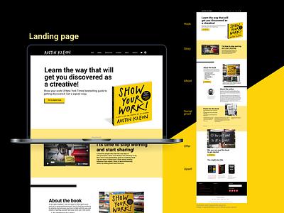 Landing page fan work book landingpage website ux ui dailyui