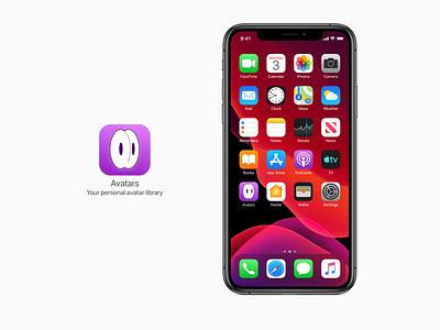 Avatars in action icon app branding logo productdesign ui dailyui