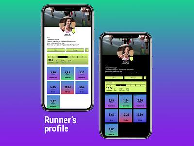 Runners Profile design ux productdesign ui dailyui