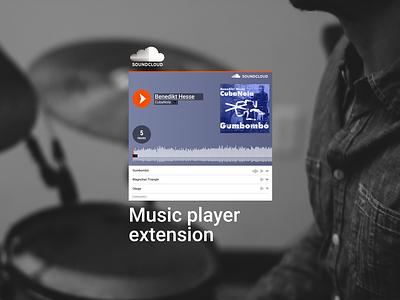 Music player extension productdesign ux ui dailyui