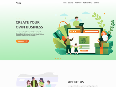 An Agency Home page agency website web branding illustration design ui