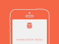 Hamburger Menu With Cheese