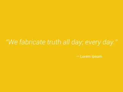 Lorem Ipsum Quote