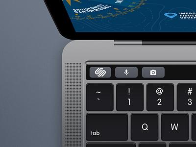 The Squarespace Button touch-bar mbp escape button squarespace