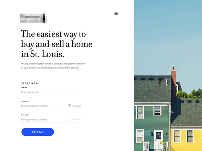 Landing Page with Form