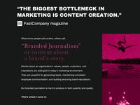 """Branded Journalism"""