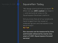 Squareflair Timeline