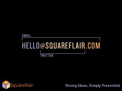 Squareflair Business Card Idea business card concept
