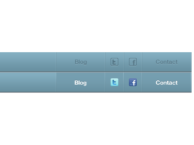 Social Sprite css rollover menu icon social sprite