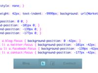 Social Sprite CSS