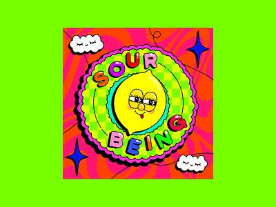 Sour Being typographydesign funwithtype typography lemoncharacter clashingpatterns colourclash colourfuldesign boldcolours cloudillustration clouddesign cheekylemon sourlemon sour lemondesign lemonillustration illustrator illustration adobeillustator