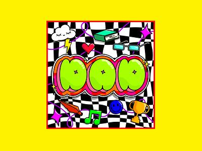 DAD maximalistdesign maximalism colourclash creativeinspiration boldcolours tributedesign inmemoryof dad colourfuldesign graphicdesign creative bubbletype handlettering handdrawntype typographydesign typography illustration illustrator adobeillustator