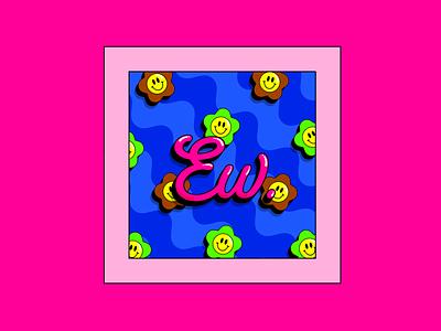Ew. creativewomenclub womenindesign flowerdesign flowerillustration wavypattern colourclash boldcolours colourfuldesign digitaldesign digitalart creative funwithtype typographydesign typography ewdesign ew graphicdesign illustration illustrator adobeillustator