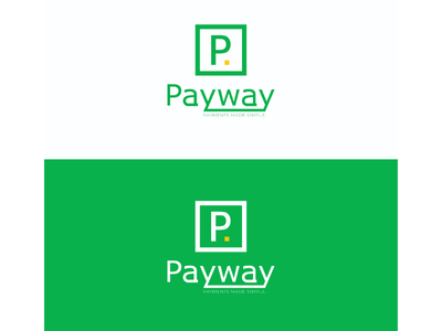 Payway logo design logo green yellow white
