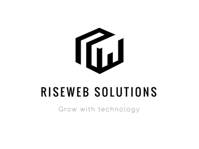 riseweb final 2 app icon typography vector illustration branding music logo illustration art colour black blue create logo logo design logos