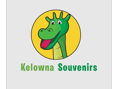 Kelowna souvenirs branding concept 2 blue cartoon icon typography design music logo illustration art vector icon logo sales glass 3d message green yellow flat 3d 2d identity branding concept branding