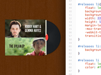 Vinyl CSS Hover Animation