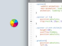CSS loading spinner